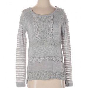 ANTHROPOLOGIE One September Crochet Sweater Top